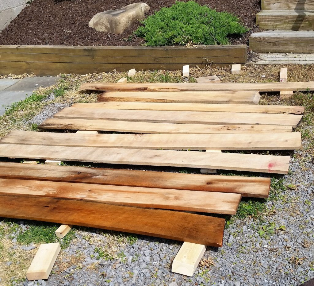 The best time to clean reclaimed wood is when you are procrastinating.