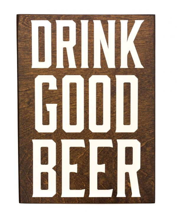 wood beer sign
