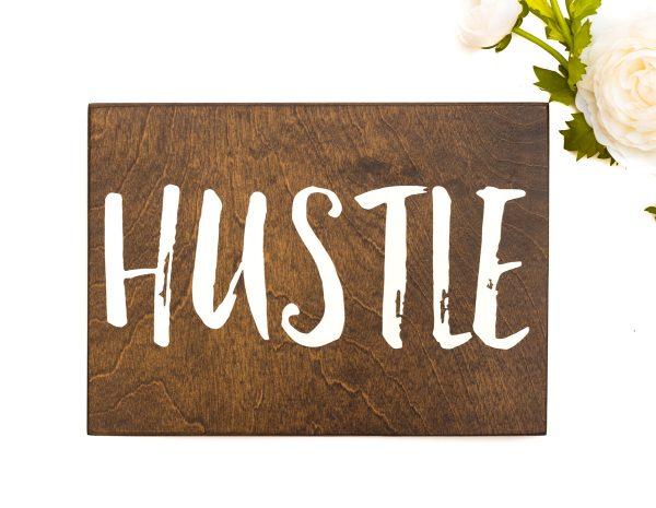 hustle sign