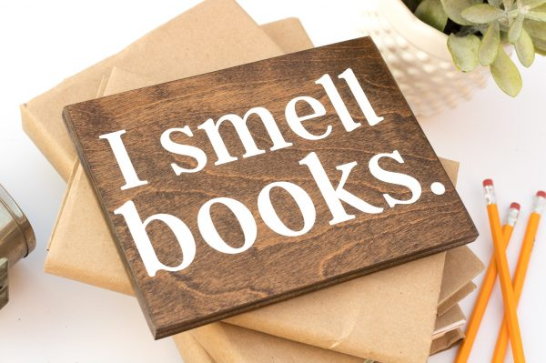 literary gifts for book lovers i smell books sign
