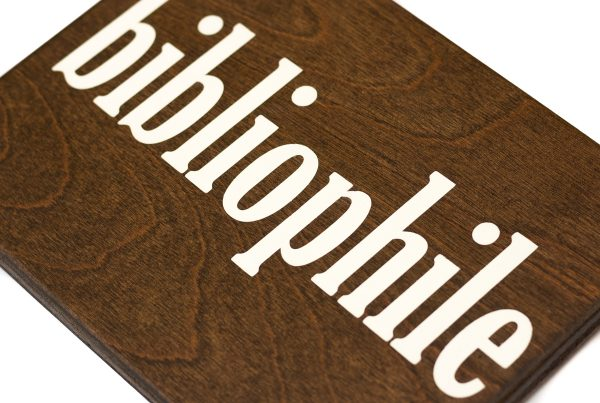 bibliophile wood sign for book lovers