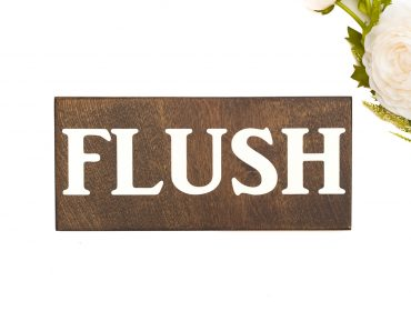 wood flush sign