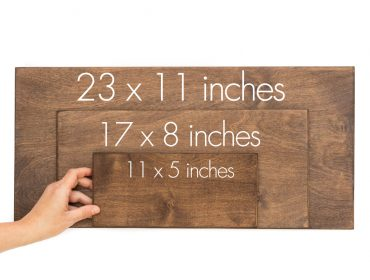 long rectangular sign sizes