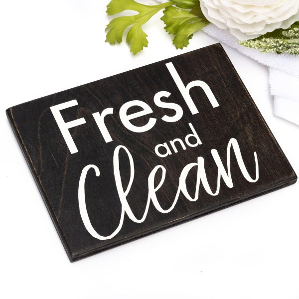 fresh and clean sign