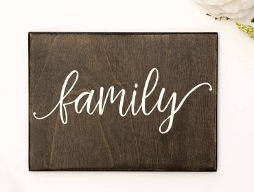 family sign wood