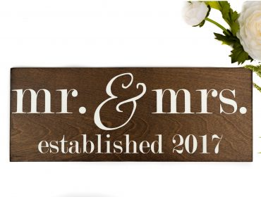 Mr. and Mrs. Established signs