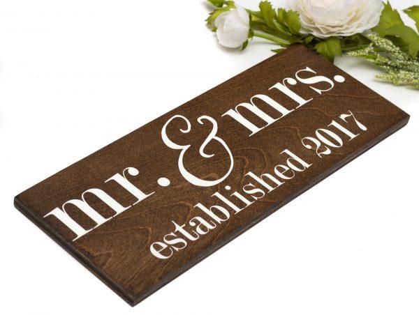 mr. and mrs. established signs