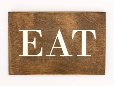 rustic eat sign
