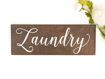 rustic laundry sign decor