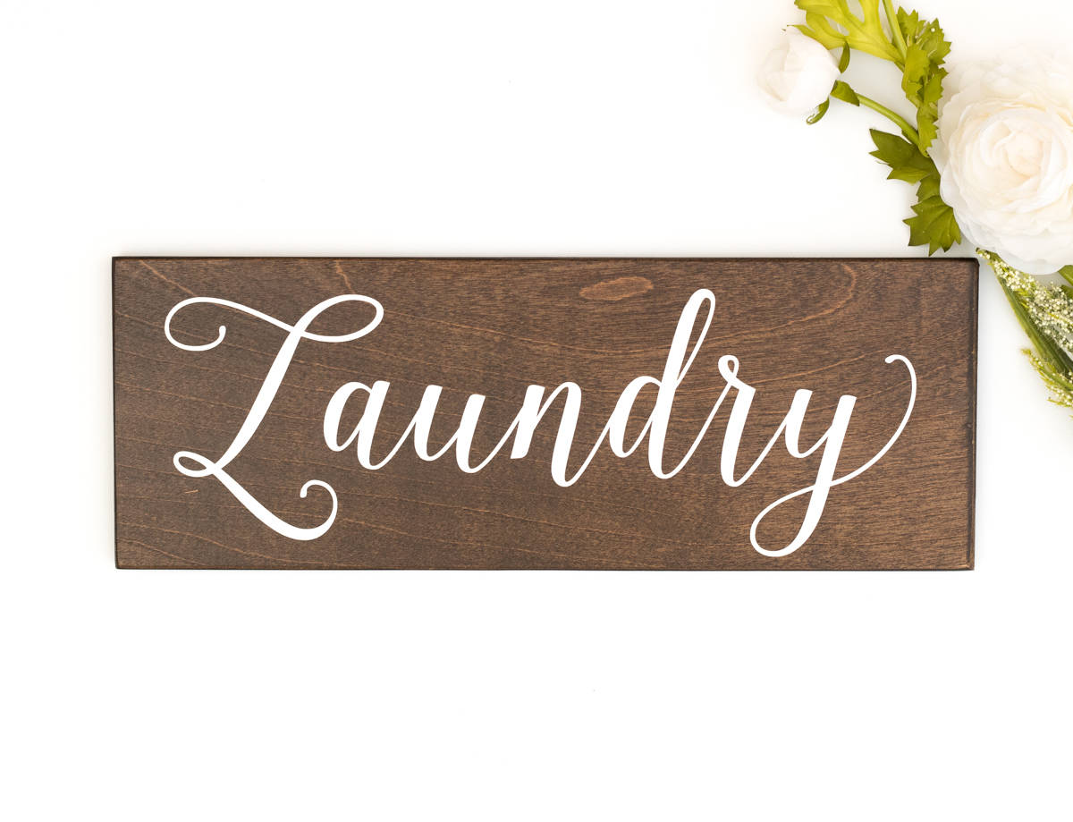 Rustic laundry sign decor honeysuckle and pine for I sign decoration