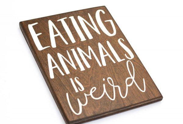 vegetarian wood signs
