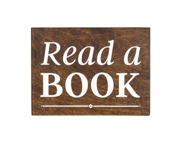 read a book wood sign