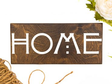arts and crafts style home sign