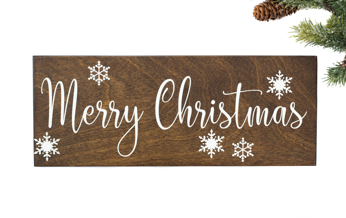 Merry Christmas Wood Sign Handmade By Honeysuckle And Pine