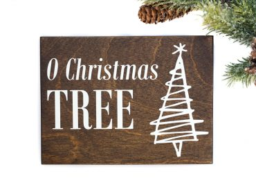 o christmas tree wood sign