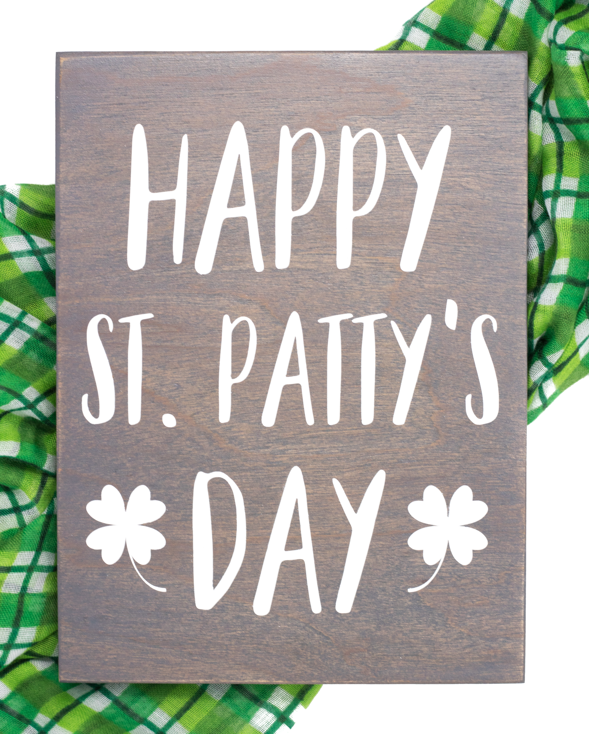 Happy St Pattys Day Wood Sign Handmade By Honeysuckle And Pine