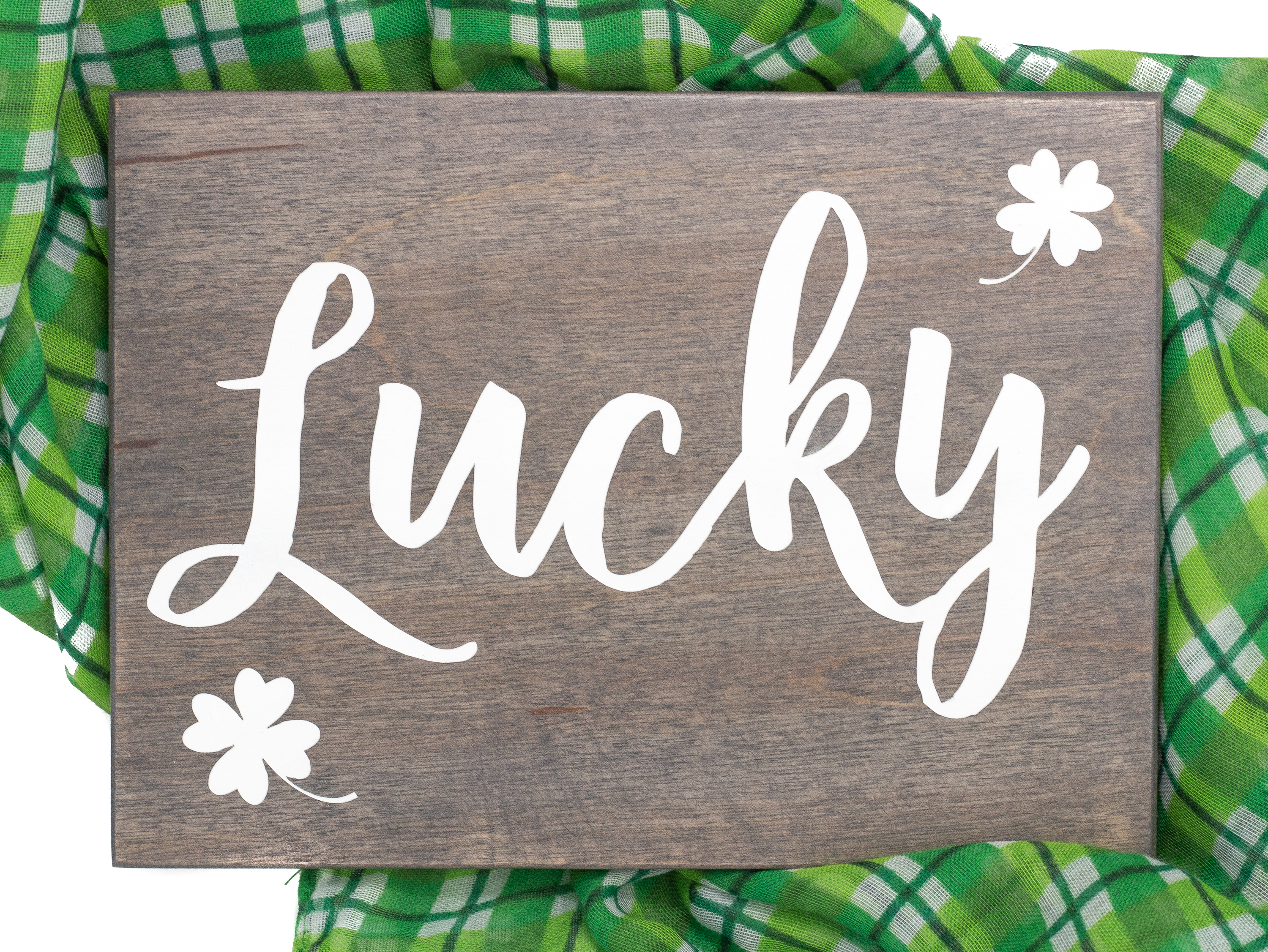 Lucky Wooden St Patricks Day Sign Handmade By Honeysuckle And Pine