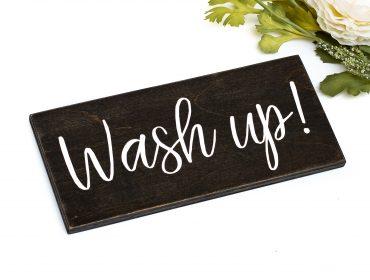 wash up sign