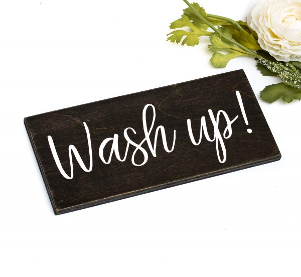 wash up sign