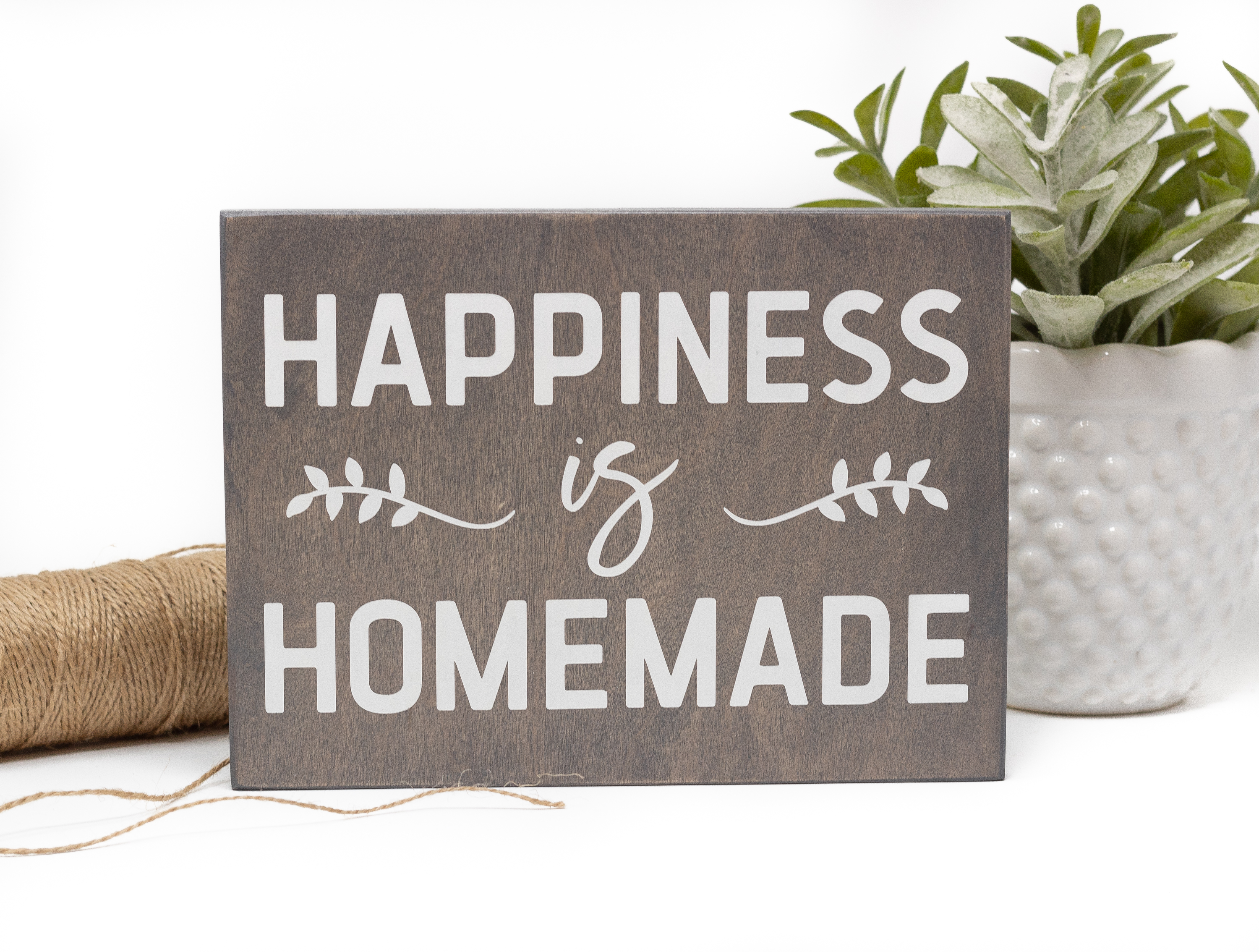 graphic about Happiness is Homemade called Pleasure is Home made Indication